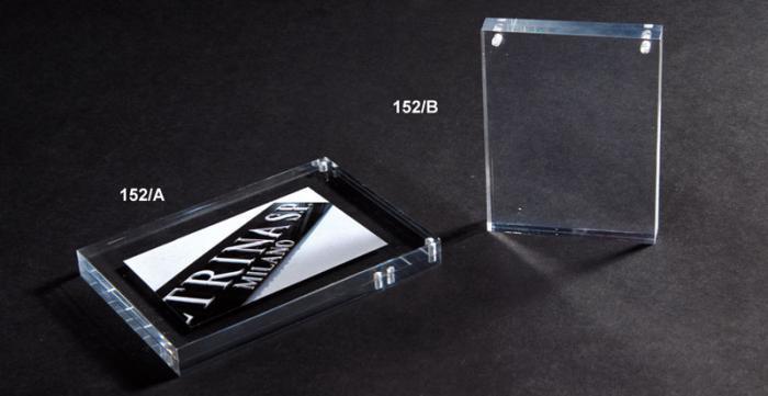 Portacartellini con calamita in plexiglass